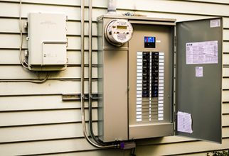main electrical panel outside